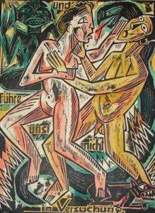 """Hermann Max Pechstein : """"La Tentation"""""""