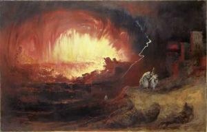 "John Martin : ""La destruction de Sodome et Gomorrhe 1832"""