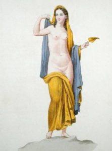 Hermaphrodite d'une fresque d'Herculanum