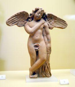 Figurine en terre cuite d'Eros - Athènes - Musée de l'Agora Antique - 3ème siècle avant JC - Photo par Giovanni Dall'Orto